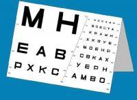 Набор таблиц (контроля остроты зрения для дали и близи) - фото 5142