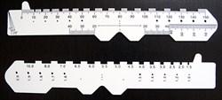 Линейка для измерения межцентрового расстояния - фото 5208