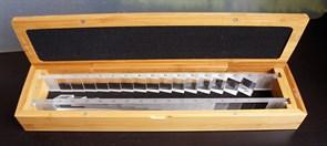Призматическая линейка 30 и 45  (2 шт.) в деревянном футляре