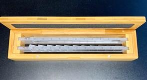 Призматическая линейка 12 и 12  (2 шт.) в деревянном футляре