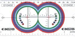 Линейка для определения минимального диаметра линз в оправу «Оптик-мастер». (раздвижная) - фото 5259