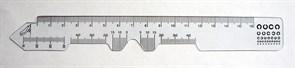 Линейка для измерения межцентрового расстояния (прозрачная)