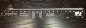 Линейка измерения РЦ  прозрачная-2