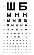 Таблицы для определения остроты зрения Головина - Сивцева
